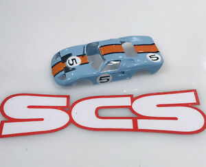 Aurora Ford Gt Blue Orange Ford Gt #5 Tjet Ho Slot Car Body