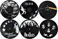 Vinyl Record Coasters for Drinks | Home Decor Music Record Drink Coasters Set