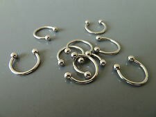 2x nose hoop, ring, 316L surgical 18g 10mm Body Piercing lip/nose/ear  Free Post