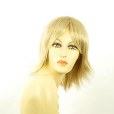 Perruque femme mi-longue blond doré méché blond très clair  NEIGE 24BT613