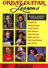 Great Guitar Lessons Blues Country Fingerpicking Learn to Play Music DVD