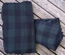 Material FABRIC Sewing Green & Black Plaid Checked Print Craft Quilting Blanket