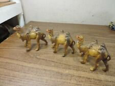 3 Vintage camels Nativity Figurine Paper Mache Italy 3""