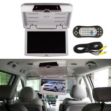 "15.6"" Car Flip Down Roof Mount DVD Player Monitor TFT LCD Screen 12V FM USB SD"