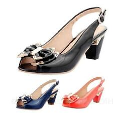 Buckle Narrow (AA, N) Solid Shoes for Women