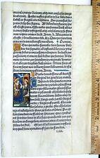 Ca.1500  printed Liturgical Book lf.vellum,handpainted miniature, Annuncition
