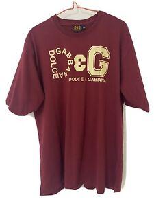 Dolce & Gabanna Mens Red T-Shirt - Size XL