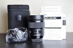Sigma AF 50mm 1.4 DG Art FX Prime Lens - For Nikon - US Model!