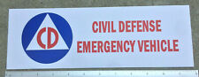 CIVIL DEFENSE VEHICLE AUTOMOBILE WHITE SIGN COLD WAR 1950 ERA