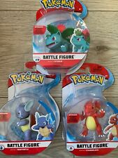 Pokemon Battle Figure Set - Wartortle, Ivysaur and Charmeleon