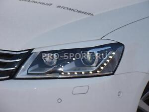 Volkswagen Passat B7 2010 2011 2012-2014 eye brow eyelids cilia head lights pair