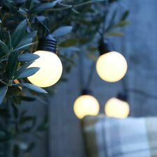Battery Power LED Outdoor Frosted Festoon Lights | Garden Globe Party Indoor