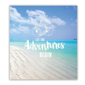 "Let The Adventures Begin Holiday Photo Album Holds 104 Slip In 5"" x 7"" & Memos"