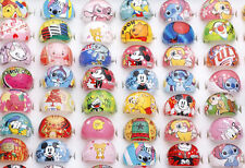 Wholesale Lots Mixed 100pcs resin Lucite Child/kid cartoon Pretty Lovely Ring