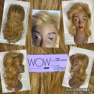 NEW! LUXHAIR Lace Front Long & Luscious Heat Safe Wig Strawberry Blonde NWT!