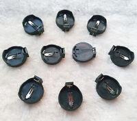 100 pieces Button Coin Cell CR2032 CR2025 Computer Battery Socket Holder Case