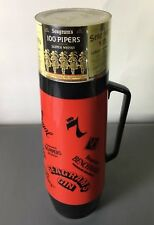 Vintage Seagrams 7 Crown Royal 100 Pipers Gin VO Bourbon Thermo Serv Thermos