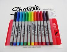 Sharpie Markers Set Of 12 Ultra Fine Point Precision Permanent Bright Colors