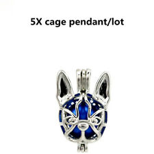 5X-K690 Chihuahua Dog Beads Pearl Cage Pet Puppy Pendant