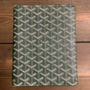 GOYARD Notebook Day Planner Cover Green Unisex From Japan Rare color