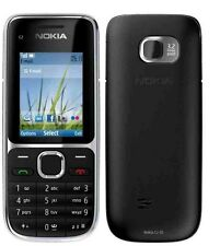 New Nokia C2-01 3G Sim Frei Entsperrt Bluetooth Schwarz Handy UK