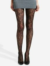 fishnet tights floral lace flower PEONY pattern black