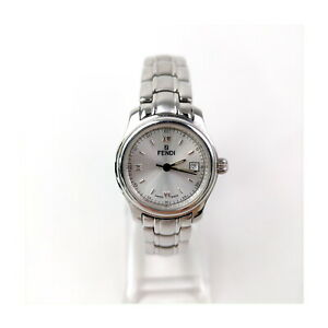 Fendi Watch  210L Round Face operates normally 27mm Women's Silver 1811138