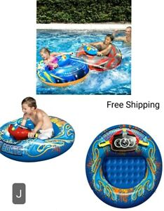 New, Banzai Aqua Blast Bumper Boats, Motorized Includes 2 Bumper Boats. New