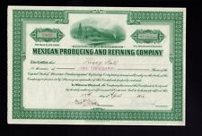 Mexican Producing and Refining Company Delaware 1921 issued to Henry Kalb