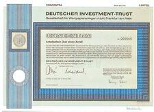 DIT  Deutscher Investment Trust  1984 Frankfurt am Main