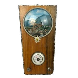 Vintage Wooden Wall Barometer 1977 Provenienti Da Culture L.B & C.B