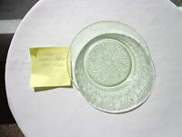 Set of 2 U.S. Glass Scroll Pattern 1935 Green Depression Bread Plates