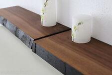 Estante de pared 2xnussbaum madera maciza Board Estantería steckboard NUEVO