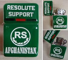 """Accendino antivento """"RS - RESOLUTE SUPPORT - AFGHANISTAN"""" (ex ISAF) - (Rarità)"""
