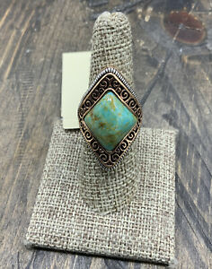 Barse Trident Ring- Turquoise & Mixed Metal-8-NWT