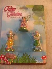 Fairy Garden Mini Figures 3 Piece Set Fairies Nib
