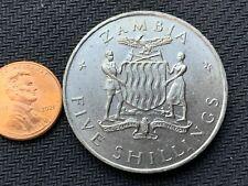 1965 Zambia 5 Shillings Coin UNC     High Grade World Coin      #C896