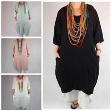 Boho Linen Long Sleeve Dresses for Women