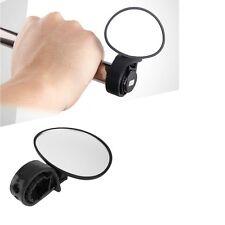 Cycling Bicycle Bike Adjustable Rear View Mirror Handlebar Rotation Safety BLACK