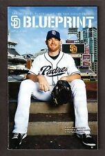 SEPTEMBER 2013 #9  SD PADRES BLUEPRINT  MAGAZINE PROGRAM  Ian Kennedy Cover  EX