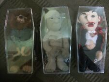 HORROR PLUSH UNIVERSAL MONSTERS- SEALED IN THEIR CASKETS! MINT! price lowered