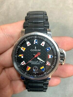 Corum Admiral's Cup 41mm 082.831.20/F371-AN52 Stainless Steel Black Dial Watch