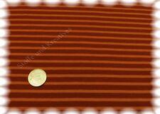 Campan Baumwoll Jersey Hilco marsalla orange Streifenjersey 50 cm