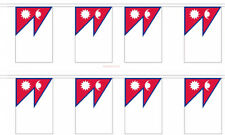 Nepal Country 12x18 Polyester Bunting String Flag Banner (8 Flags)