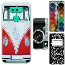 for LG Aristo 5/Phoenix 5/Risio 4(Clear) ShockProof TPU Skin Phone Case Cover-H