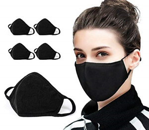 5 PCS Cotton Face Mask Cover Bandana Balaclavas, 2-Layer Unisex Reusable Fashion
