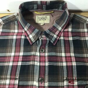 MENS CAMEL ACTIVE SHIRT! RED/BLACK/BROWN/Beige/WHITE CHECK! XL!
