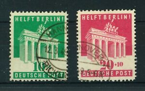 Germany 1948 B/A Zone Aid to Berlin full set of stamps. Used. Sg A140-A141.