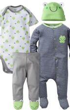 Gerber 4 Pc Boys Frog Take Me Home Set, 3-6 Months Brand New