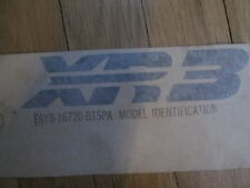 NOS 1986 87 MERCURY LYNX XR3 FRONT END DECAL